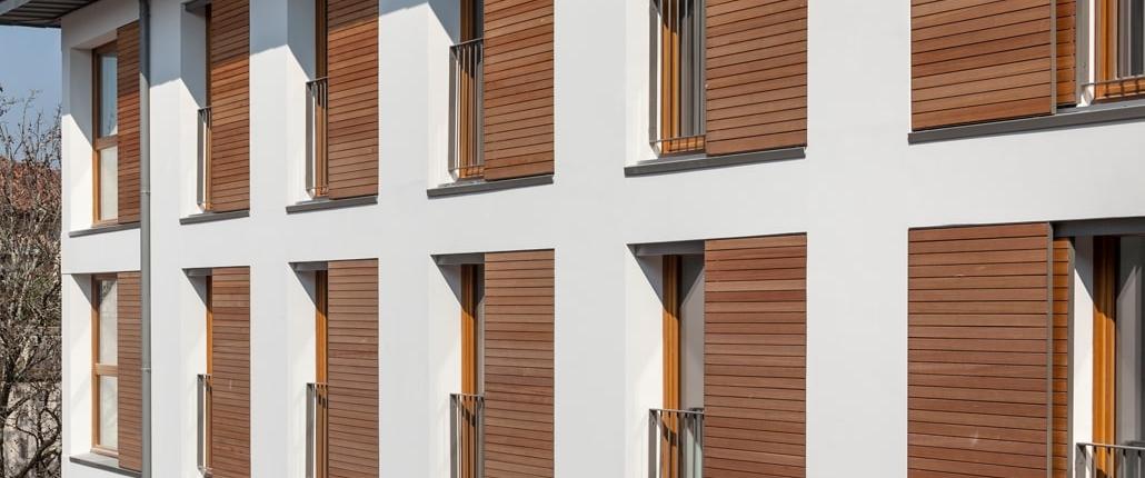 Fensterläden zum Schieben
