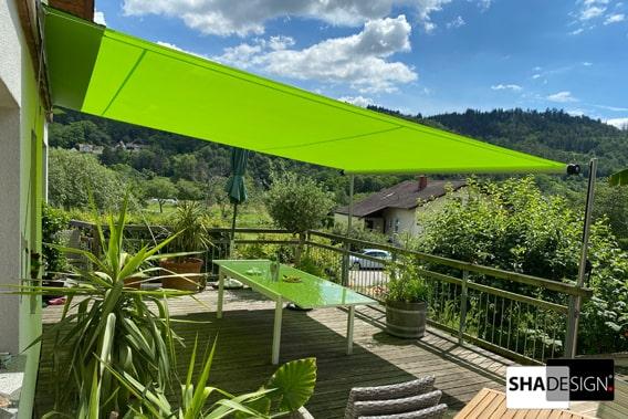 Sonnensegel Terrasse grün